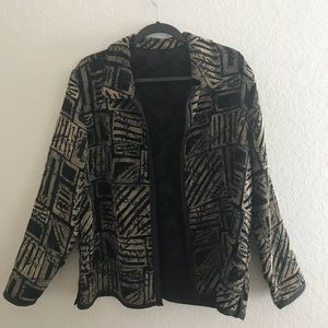 Vintage Black & Gold Jacket